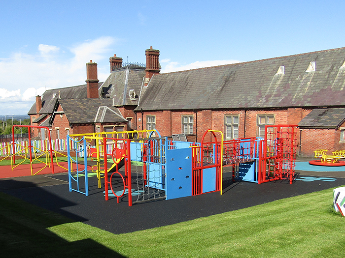 Transformation of playground at Gower House 1