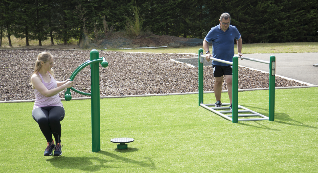 Low impact fitness equipment
